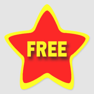 Star Shape Retail Free Stickers
