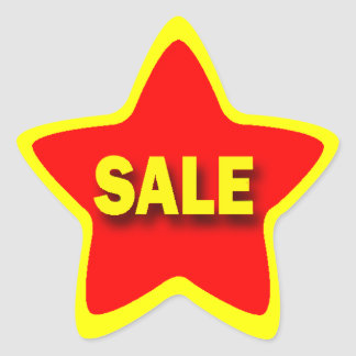 Star Shape Retail Sale Stickers
