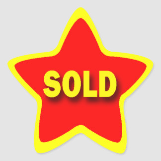 Star Shape Retail Sold Stickers