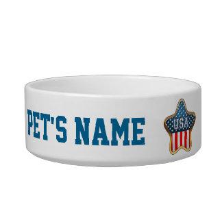 Star Shaped American Flag Bowl