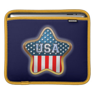 Star Shaped American Flag Sleeve For iPads