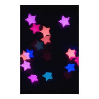 star_shaped_bokeh.jpg BLACK SPACE BACKGROUND STARS Stationery