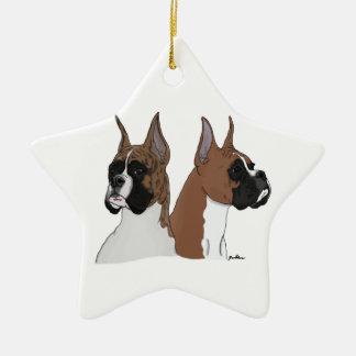 Star-shaped ceramic boxer ornament