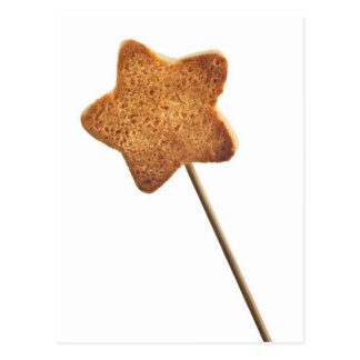 Star shaped cookie postcard