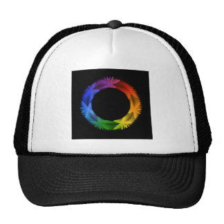 Star shaped design element trucker hat