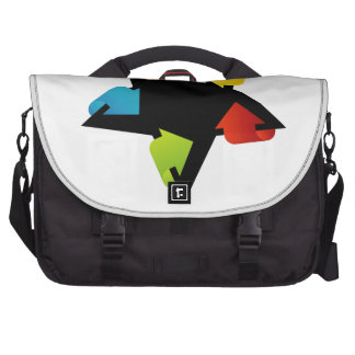 Star shaped design element with colorful arrows laptop bags