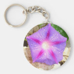 Star Shaped Morning Glory With Glistening Water Keychains