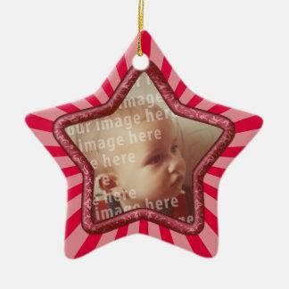 Star Shaped Photo Frame Ceramic Ornament