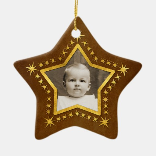 Christmas Tree Ornaments Picture Frames : Star shaped photo frame christmas tree ornament zazzle