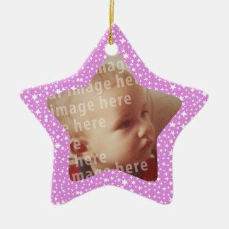 Star Shaped Photo Frame Ornament