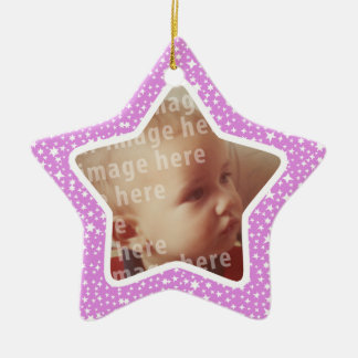 Star Shaped Photo Frame Christmas Tree Ornament