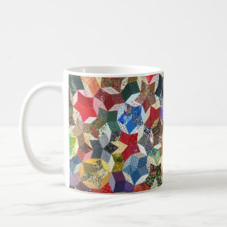 Star shaped quilt coffee mug