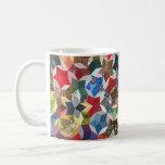 Star shaped quilt coffee mugs