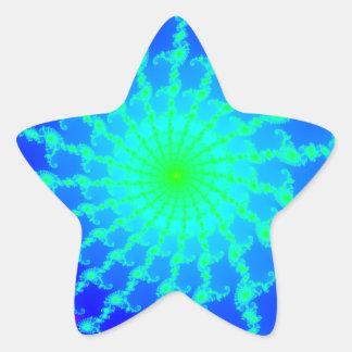 Star Shaped Sticker w/ Mandelbrot Fractal