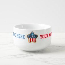 Star-Shaped US Flag Soup Mug