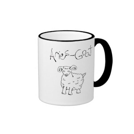 Star sign Aries Chinese year Goat Ringer Mug