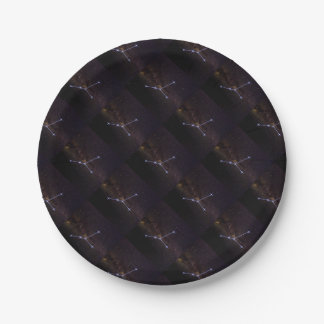 Star Sign Cancer Paper Plate