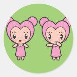 Star Sign Character - Gemini Classic Round Sticker