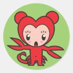 Star Sign Character - Scorpio Classic Round Sticker