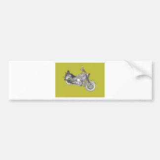 Star Silver Bike Bumper Sticker