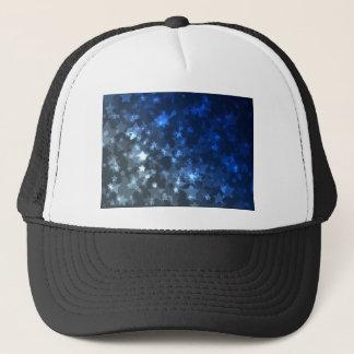 Star Simulation Space Blue Lights Lighting Trucker Hat