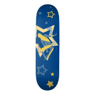 Star Skater, Blue & Yellow Skateboard
