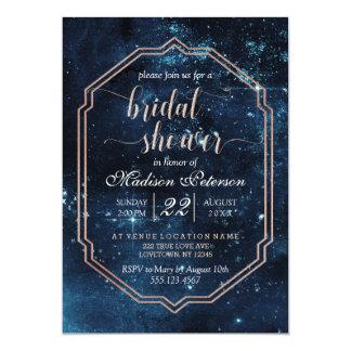 Star Sky Celestial Galaxy Bridal Shower Invitation