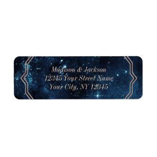Star Sky Celestial Galaxy Wedding Return Address Label