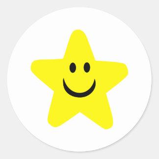 Star - Smile Classic Round Sticker