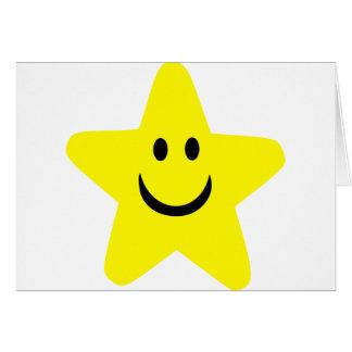 Star - Smile Greeting Card