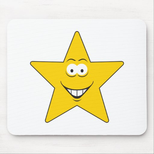 Star Smiley Face Mouse Mats