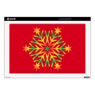 Star Snowflake Laptop Skin