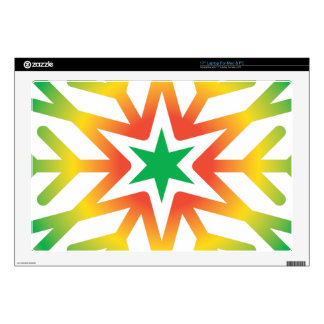 """Star Snowflake Skin For 17"""" Laptop"""