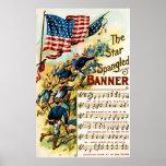 Star Spangled Banner 1908 Vintage Poster