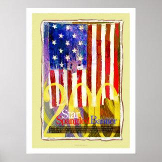 Star Spangled Banner Bicentennial Poster