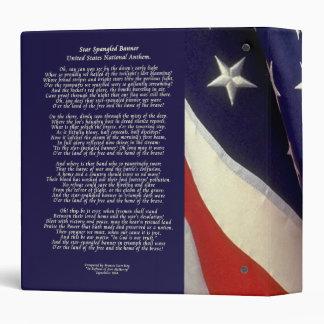 Star Spangled Banner Binder 1.5 in