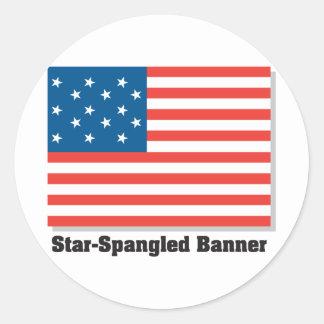 Star Spangled Banner Classic Round Sticker