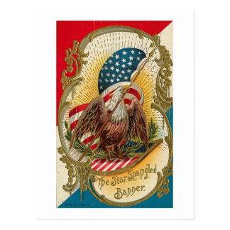 Star Spangled Banner Eagle Postcard