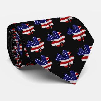 Star-Spangled Banner Four-Leaf Clover Tie