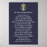 Star Spangled Banner Lyrics Poster