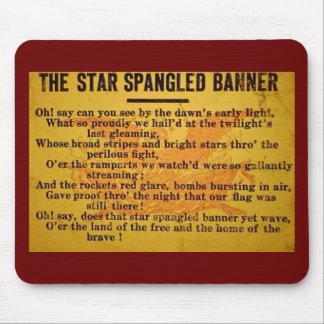 Star Spangled Banner Magic Lantern Slide Mouse Pads