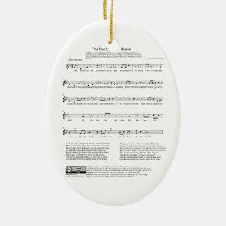 Star-Spangled Banner National Anthem Music Sheet Ceramic Ornament
