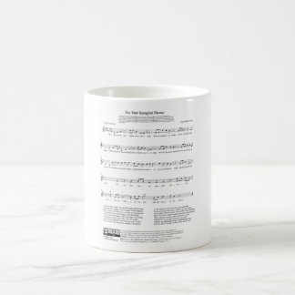 Star-Spangled Banner National Anthem Music Sheet Coffee Mug
