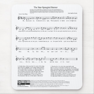 Star-Spangled Banner National Anthem Music Sheet Mouse Pad