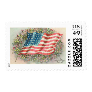 Star Spangled Banner Old Glory Floral Stamps