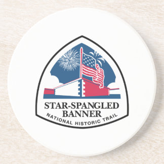 Star-Spangled Banner Trail Sign, USA Drink Coaster