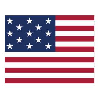 Star Spangled Banner With 13 Stars Postcard