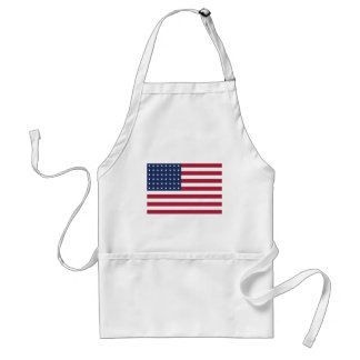 Star Spangled Banner With 48 Stars Adult Apron