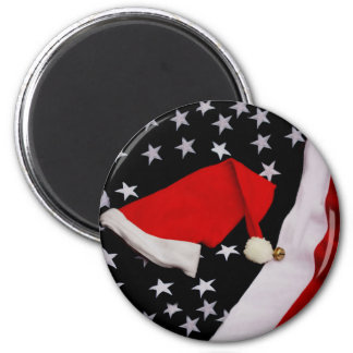 Star-Spangled Christmas 2 Inch Round Magnet