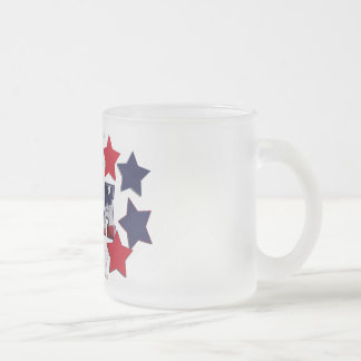 STAR SPANGLED CNA - CERTIFIED NURSE ASSISTANT FROSTED GLASS COFFEE MUG